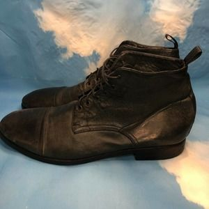 PAUL SMITH Grey Gray PRE-OWNED Ankle Boot Vintage